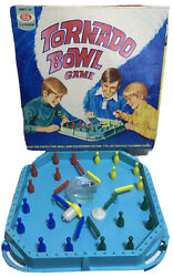 Ideal 1971 Vintage Tornado Bowl Game W/bowling Pins And Top Tested Works