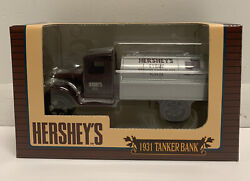 Ertl Collectibles Hersheyand039s Syrup 1931 Hawk Tanker Truck Bank Le New In Box