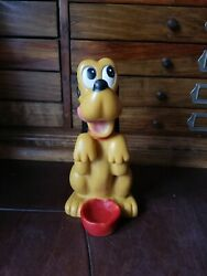 Vintage Mexican Vinilos Romay Rubber Squeeky Toy Pluto 7 Walt Disney From 60's