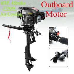 Hot 6hp Outboard Motor 4stroke Fishing Boat Engine With Air Cooling 3750w