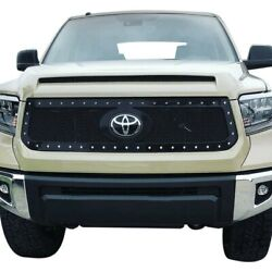 For Toyota Tundra 18-20 Status Grilles 1-pc Charcoal Metallic Mesh Main Grille
