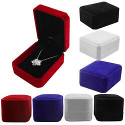 1 5 10 Pack Velvet Earring Ring Necklace Pendant Jewelry Gift Boxes Case Wedding $16.98