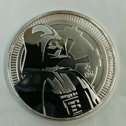 2017 Darth Vader .999 Fine Silver 1oz. Bu Niue 2 Star Wars Coin K719