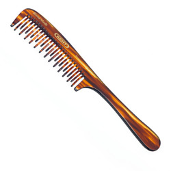 Kent Hand Made Curved Double Row Detangling Comb 21t