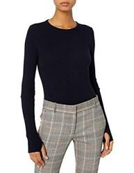 Enza Costa Womenand039s Cashmere Thermal Cuffed Crew Top Assorted Sizes Colors
