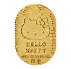 Limited Hello Kitty 45th Anniversary Pure Gold Good Luck Oval