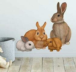Bunny Rabbit Family Wall Decals Forest Kids Wall Decals Baby Nursery Toddler