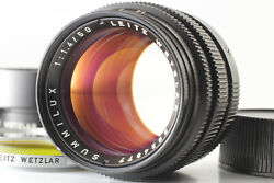 【near Mint】 Leica Summilux-m 50mm F1.4 Ver.2 Black Lens For M Mount From Japan