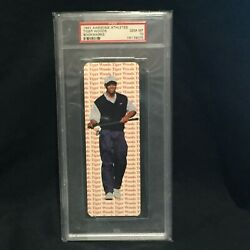 Tiger Woods 1997 Rookie Year Awesome Golf Athletes Bookmark Gem Mint Psa 10