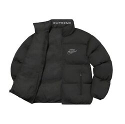 Supreme Nike Reversible Puffy Jacket Black- Size Small In Hand Ready To Ship