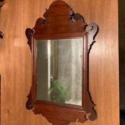 Charmingly Diminutive 18th Century Chippendale Mirror