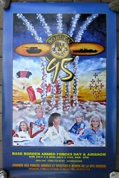 Signed Poster 1995 - Base Borden Armed Forces Day And Airshow - Women Stunt Pilots