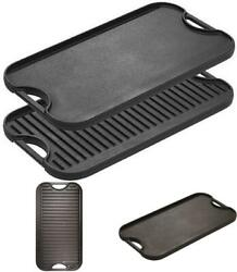 Lodge Pre-seasoned Cast Iron Reversible Grill/griddle With Handles 20 Inch X 10