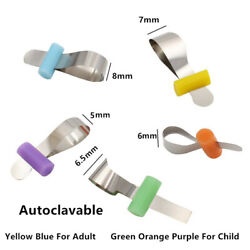 Dental Matrix Bands Sectional Metal Matrices Colorful Wedges Retainer 5 Sizes