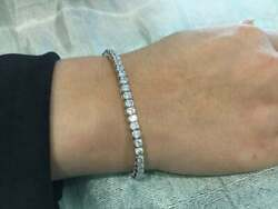 Thrilled Finished Solid Sterling Silver 925 Charm Tennis Bracelet For Women's