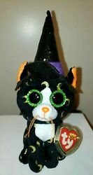 Ty Beanie Boos - Pandora The Halloween Cat 6-7 Inch New - Mint With Mint Tags