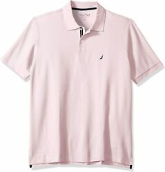 Nautica Menand039s Big And Tall Classic Fit Short Sleeve Solid Performance Deck Polo