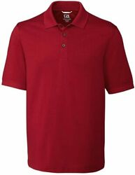 Cutter And Buck Menand039s Big And Tall Big And Tall 35+upf Short Sleeve Advantage Polo