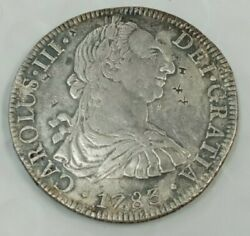 1783 Mexico City Ff 8 Real Chop Marked Xf Details North America Colonial K726