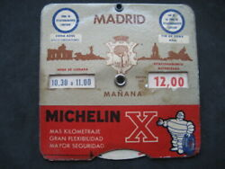 Disk Timetable Tyres Michelin. Madrid Years 60