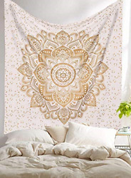 Golden Tapestry Hippie Mandala Bohemian Psychedelic Gold tapestry wall hangings