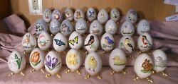 31 Goebel Annual Dated Easter Eggs 1978-2009 Collectors Egg Birds Flowers