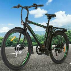 26and039and039 Electric Bike Commuting Bicycle Adult City Ebike W/ Removable 10ah Battery