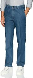 Haggar Menand039s Casual Classic Fit Denim Trouser Pant-regular And Big And Tall Sizes