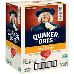 Quaker Old Fashioned Rolled Oats Two 64oz Bags In Box 90 Ct. Non Gmo