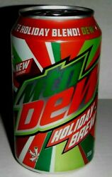 Vintage Mountain Dew Limited Edition Ultimate Holiday Blend Soda Full Can Sealed