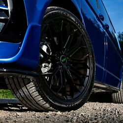 Lv-1 Gloss Black Staggered 20 Alloys Fits Vw Transporter T5 T6 T6.1