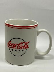 Vintage Coca Cola Mug Gibson Coffee Cup White And Red Set Of 3