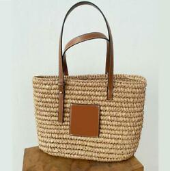 New fashion straw bag straw bag beach bag woven bag women#x27;s single shoulder hand $24.00