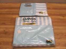 Vintage Cannon Fashion Muslin Double Bed Sheet And 2 Pillow Cases New