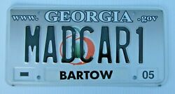 Georgia Graphic Vanity License Plate Mad Car 1 Crazy Insane Nuts Nutty