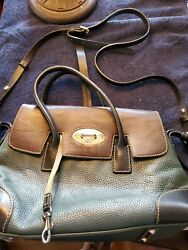 Dooney bourke leather bags handbags Forest Green with Black and Dark Brown $50.00