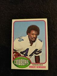 1976 Topps Robert Newhouse Rookie Football Card 14 Dallas Cowboys Ex