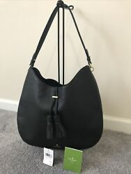 Kate Spade James Street Nori Merlot Leather Black Hobo Bag $89.00