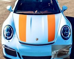 Dual Rally Vinyl Stripes Sticker For Porsche 911 718 Gt2rs Boxster Gt3rs