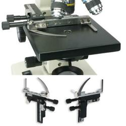 Microscope Attachable Mechanical Stage X-y Moveable Caliper Vernier With Scale