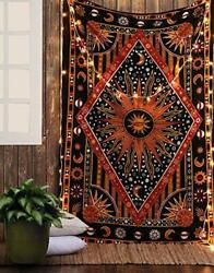 ModTradIndia Celestial Sun Moon Stars Planet Tapestry Indian Hippie Wall