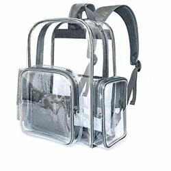 Clear Backpack Heavy Duty Transparent Backpacks for Adults Large See Grey $34.05