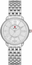 Brand New Authentic Michele Serein Mid Silver Dial Womenand039s Watch Mww21b000147
