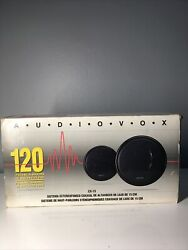 Audiovox Rampage Cx-15 120w Speaker System 5 1/4 Woofer Free Shipping