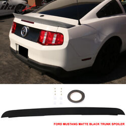 Fits 10-14 Mustang Cobra Gt500 Style Matte Black Trunk Spoiler Duck Tail - Abs