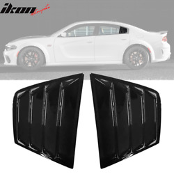Fits 11-21 Dodge Charger V2 Style Window Louver Sun Windshield Gloss Black