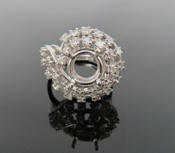 Vintage 1.20ct Old Cut Diamond And 14k White Gold 8.6mm Semi Mount Ring