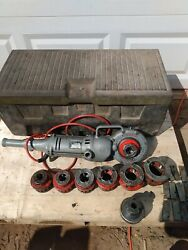 Ridgid 700 Power Pony Pipe Threader With Dies,1/2in-2in And Cary Box.