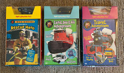 New Sealed Lot 3 Real Wheels Dvds W/ Toys Travel Adventures Rescue Hero Land.
