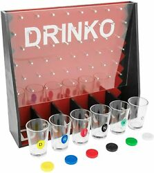 Drinko Shot Glass Drinking Party Game Roulette New Fast Shipping